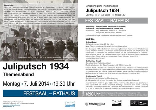Themenabend Juliputsch 1934