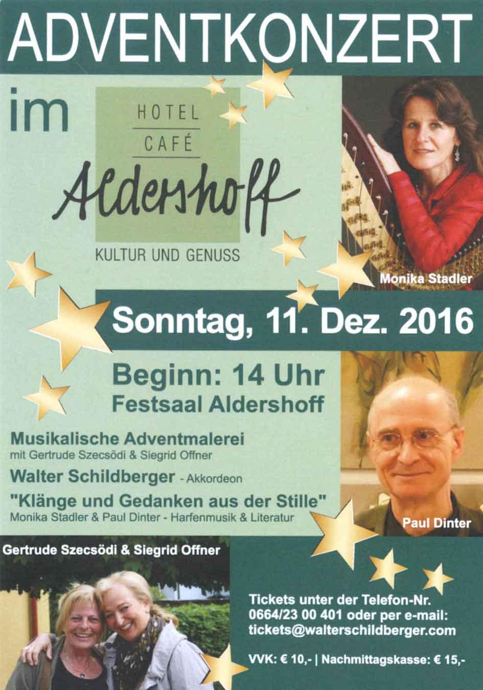 Plaket: Advent im Hotel Aldershoff - Wolfsberg